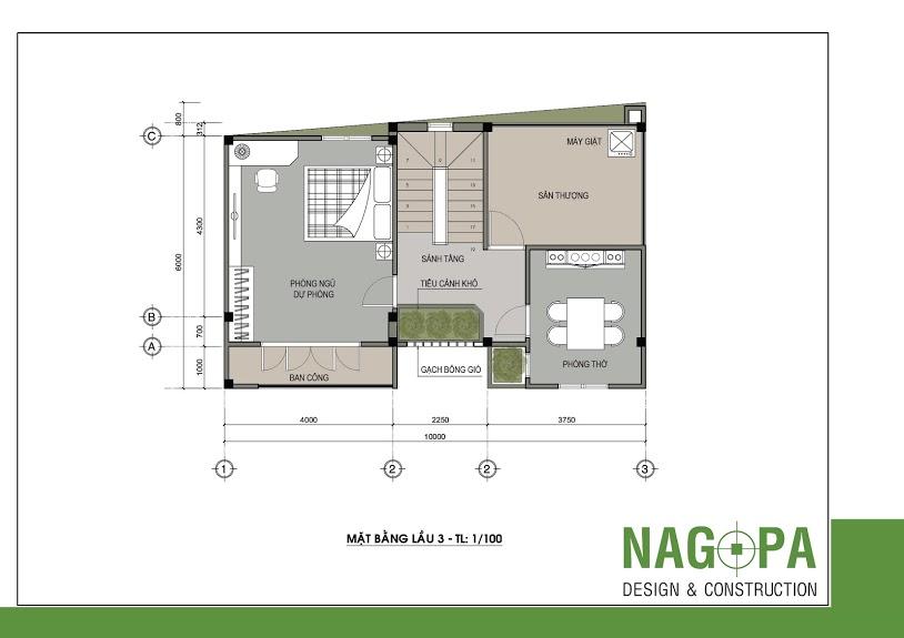 thiết kế nhà phố đẹp tại định hòa nagopa 04