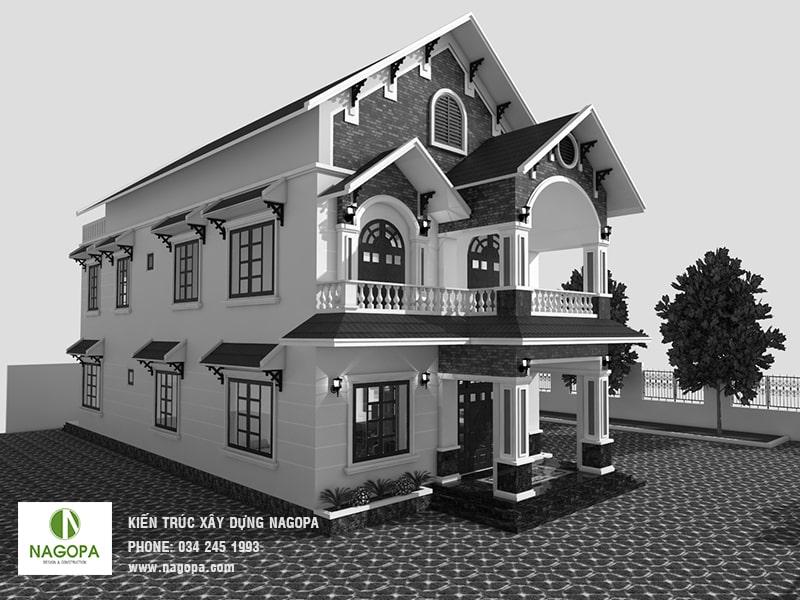 thiết kế biệt thự 2 tầng hiện đại tại phường phú lợi thủ dầu một 04