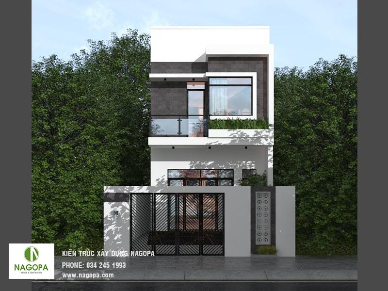 thiết kế nhà phố 200m2 tại phường phú mỹ bình dương 03