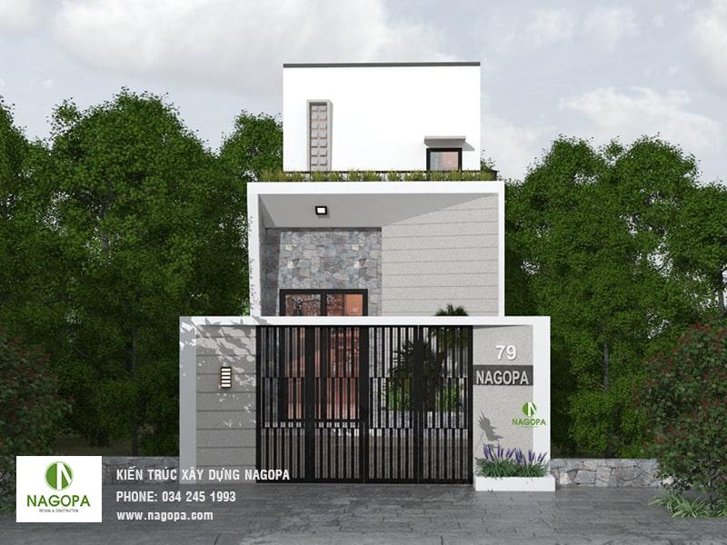 thiết kế nhà phố hiện đại đơn giản tại tân uyên 01