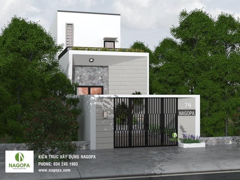 thiết kế nhà phố hiện đại đơn giản tại tân uyên 02