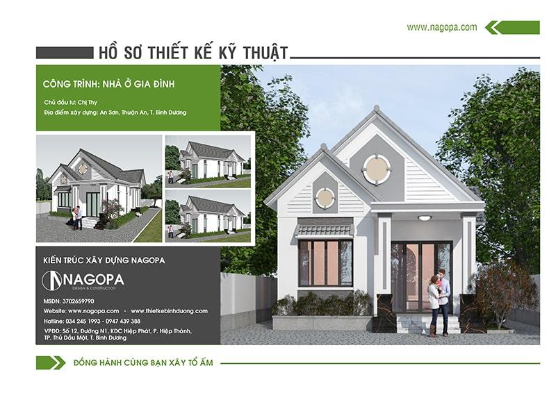 Hồ sơ thiết kế nhà chị Thy tại Thuận An Bình Dương