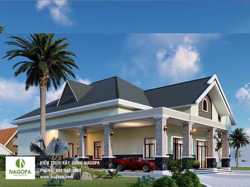 thiết kế nhà biệt thự vườn sang trọng tại tân uyên bình dương 01