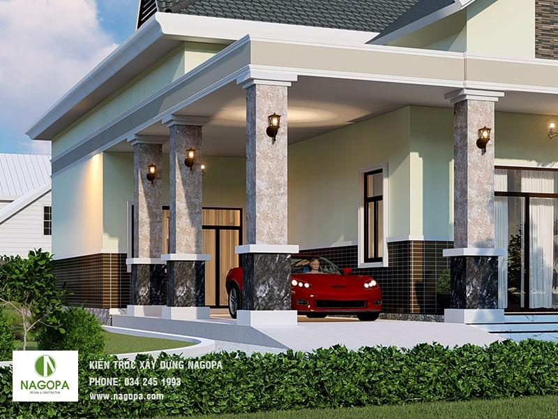 thiết kế nhà biệt thự vườn sang trọng tại tân uyên bình dương 02
