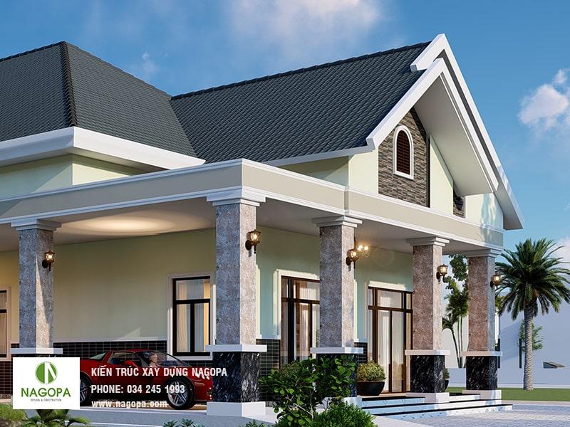 thiết kế nhà biệt thự vườn sang trọng tại tân uyên bình dương 04