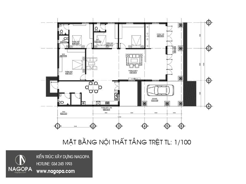 thiết kế nhà biệt thự vườn sang trọng tại Tân Uyên Bình Dương 05
