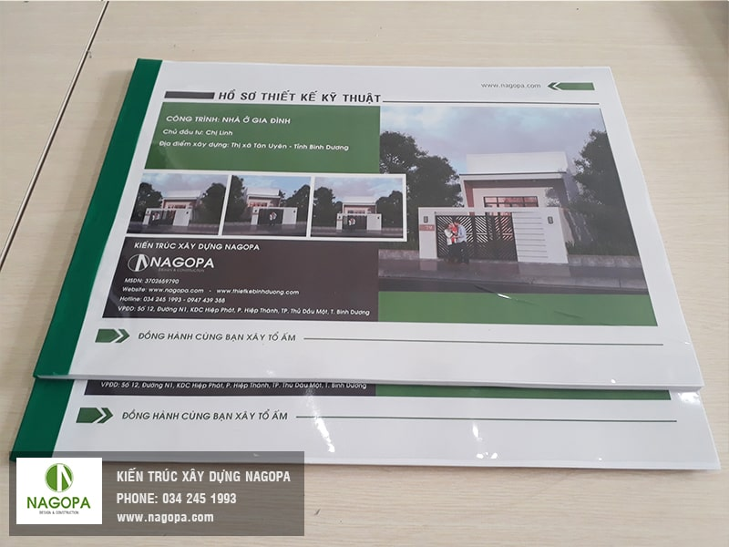 2 quyển hồ sơ thiết kế bản vẽ nhà cấp 4 tại công ty nagopa min
