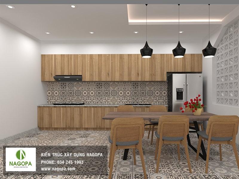 hình ảnh nội thất bếp nhà phố hiện đại 01