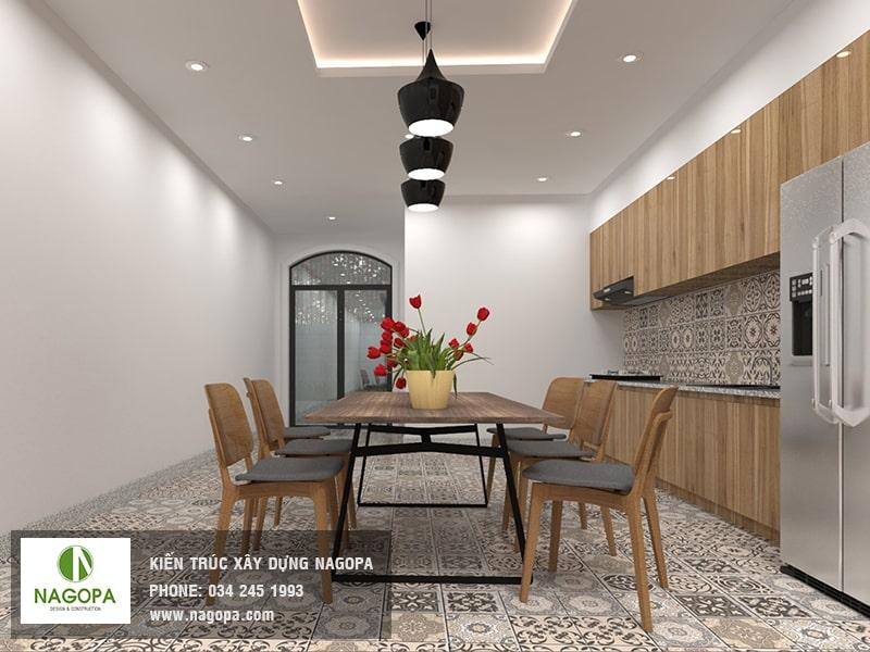 hình ảnh nội thất bếp nhà phố hiện đại