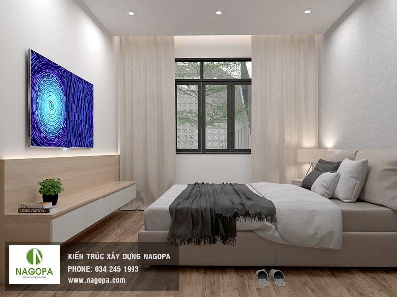 hình ảnh nội thất phòng ngủ nhà phố hiện đại 01