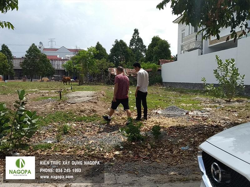 khu đất thực hiện công tác khảo sát xây dựng