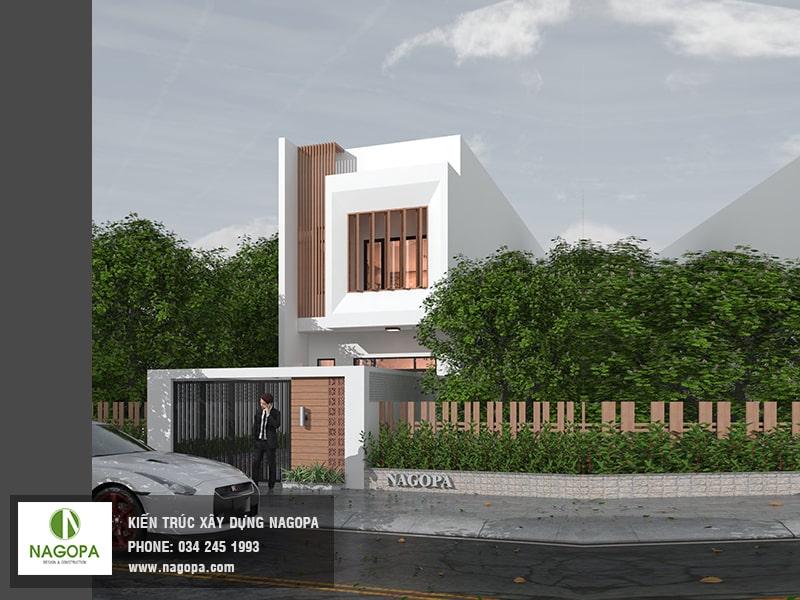 kiến trúc nhà phố hướng tây diện tích 5x24m 01