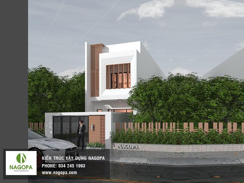 kiến trúc nhà phố hướng tây diện tích 5x24m 02