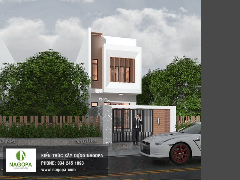 kiến trúc nhà phố hướng tây diện tích 5x24m 03