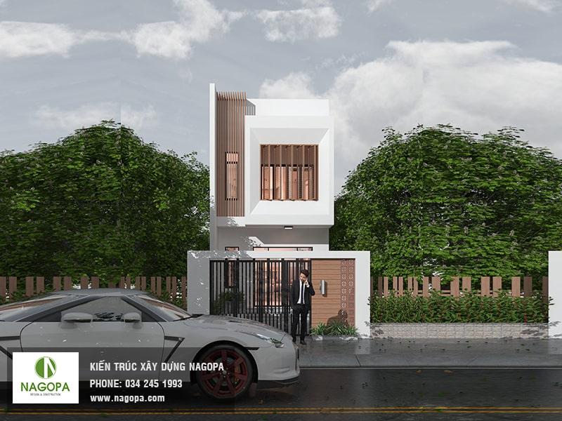 kiến trúc nhà phố hướng tây diện tích 5x24m