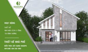 thiết kế nhà mái lệch 2 tầng bình dương 06