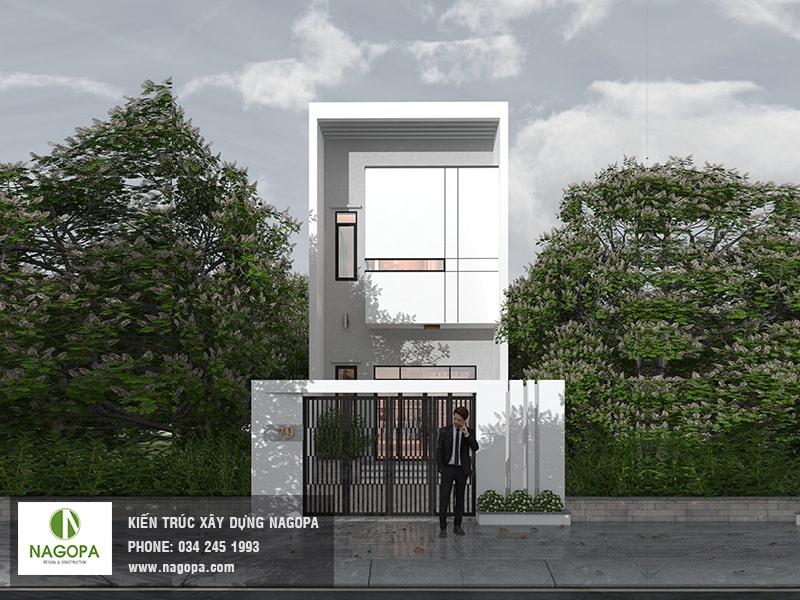thiết kế nhà phố 1 trệt 1 lầu 5x20 tại thủ dầu một
