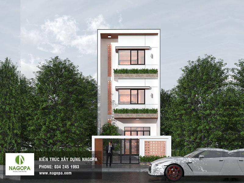 Thiết kế nhà phố 3 tầng mặt tiền 5m nagopa