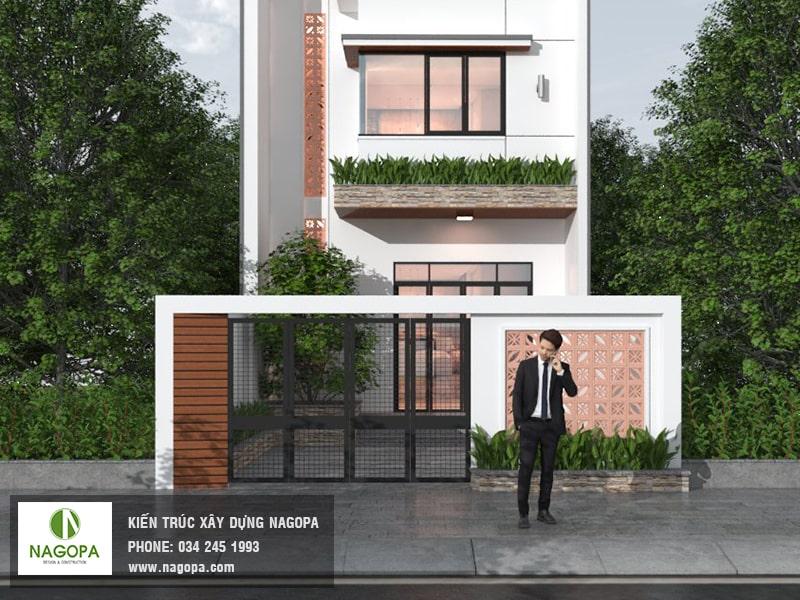 Thiết kế nhà phố 3 tầng mặt tiền 5m Thủ Dầu Một 01