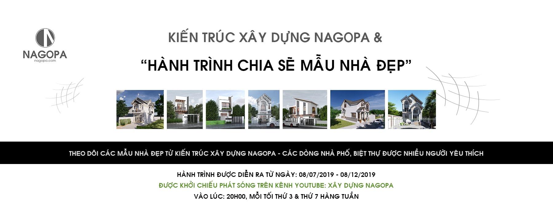 banner hành trình chia sẽ mẫu nhà đẹp cùng kiến trúc xây dựng nagopa