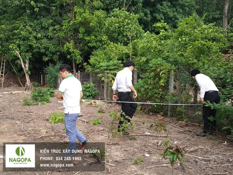 khảo sát xây dựng nhà anh Phong Định Hòa Thủ Dầu Một