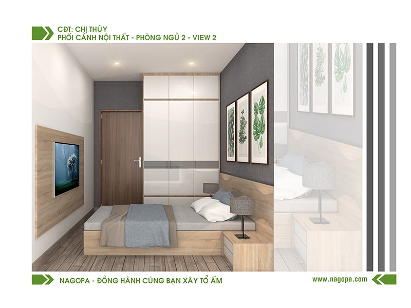 mẫu phòng ngủ nhà phố đẹp tại nagopa