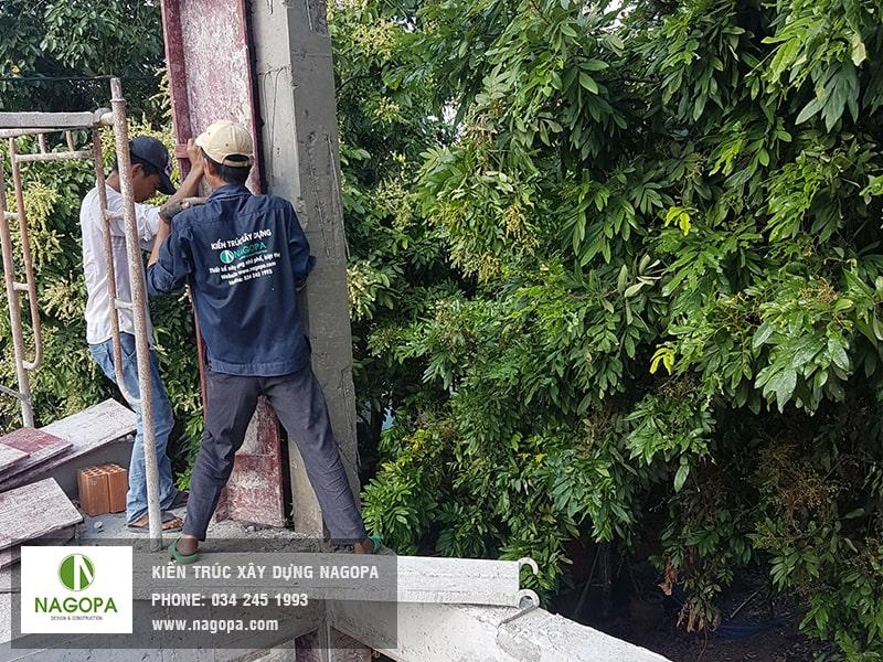 nagopa công tác tháo đổ coppha cột 04