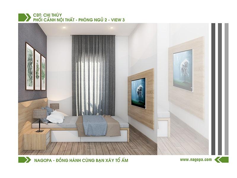 nội thất phòng ngủ nhà phố hiện đại tại nagopa