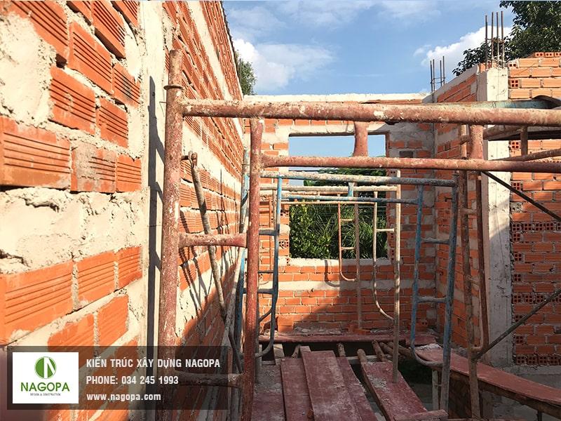 thi công xây tường tầng lầu nhà chị loan bình dương 01