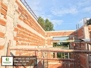 thi công xây tường tầng lầu nhà chị loan bình dương