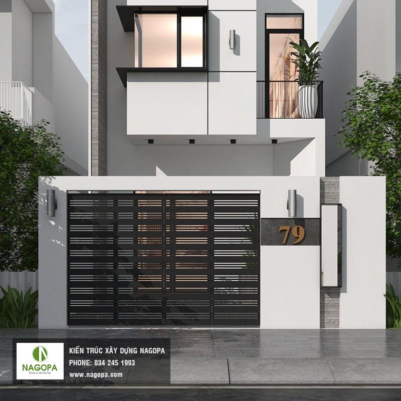 nagopa thiết kế nhà phố mặt tiền 5m