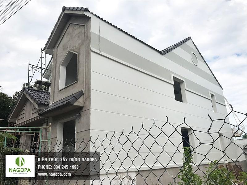 hoạt động hoàn thiện sơn nước nhà chị Loan