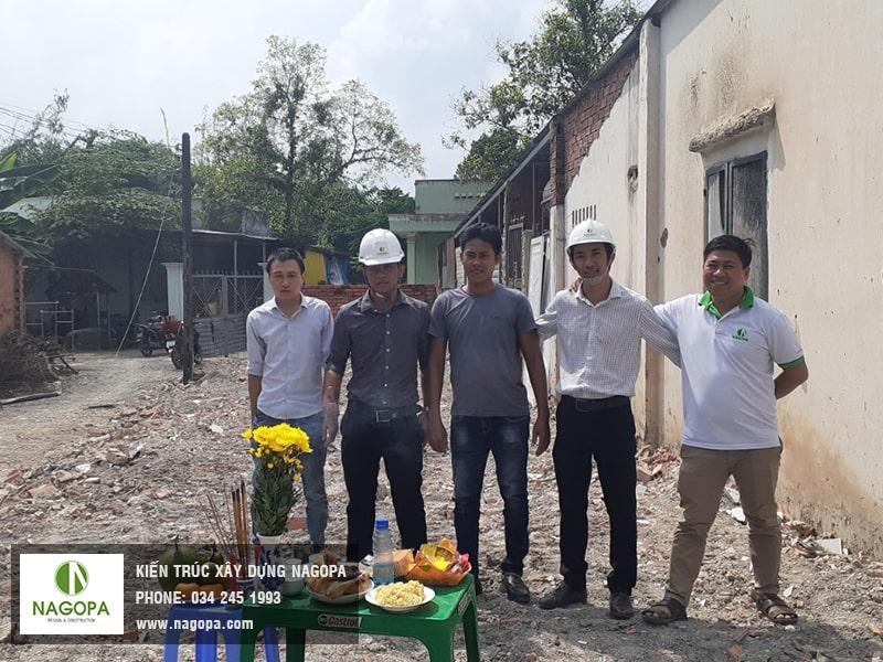 Khởi công xây dựng nhà phố anh Sang Phú Mỹ Thủ Dầu Một 01