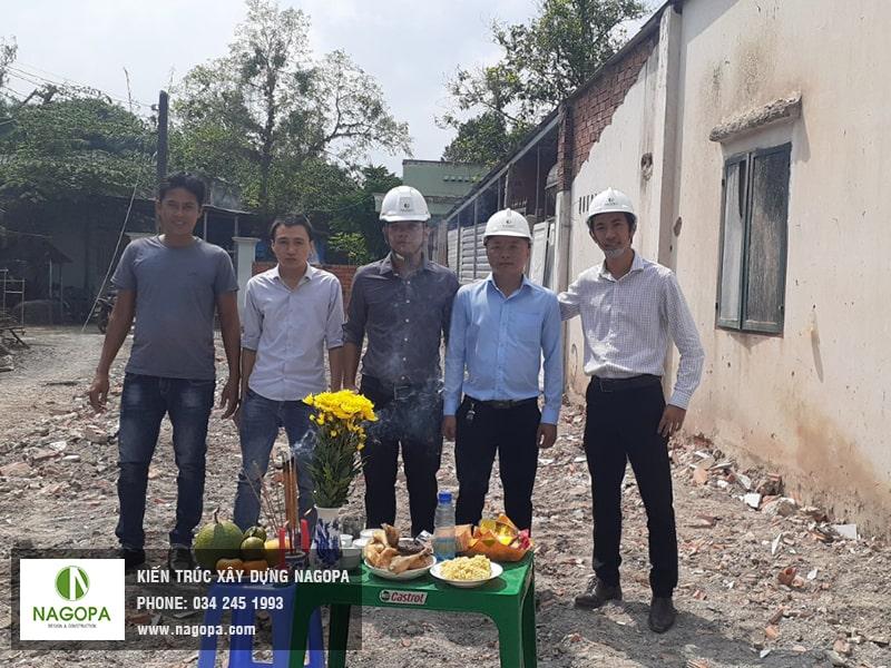 Khởi công xây dựng nhà phố anh Sang Phú Mỹ Thủ Dầu Một 02
