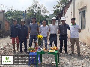 Khởi công xây dựng nhà phố anh Sang Phú Mỹ Thủ Dầu Một