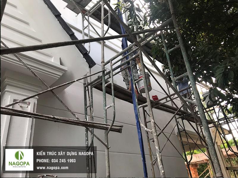 tiến độ thi công sơn nước mặt hông 01