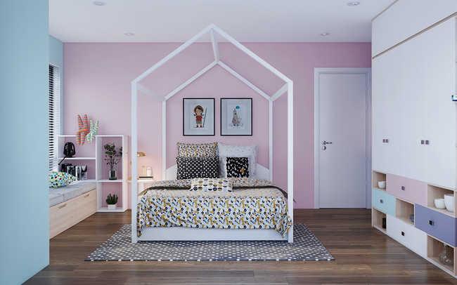 phòng ngủ dành cho bé gái 01
