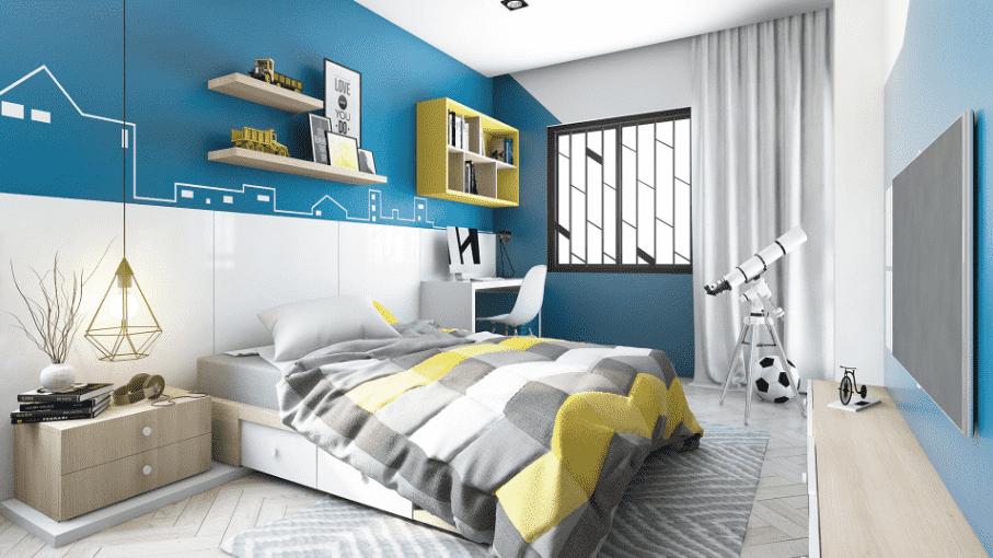 phòng ngủ dành cho bé trai 01