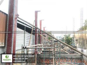 thi công đổ bê tông cột tầng trệt xây dựng nhà anh sang phú mỹ 02