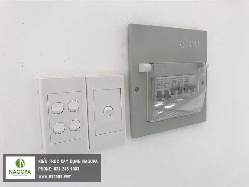 thi công hệ thống điện chiếu sáng nhà ở 01