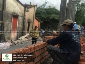 thi công xây tường nhà phố anh sang 03
