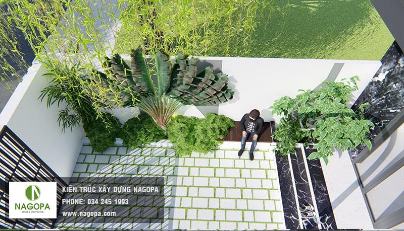 mẫu sân trước nhà phố hiện đại 5m 3