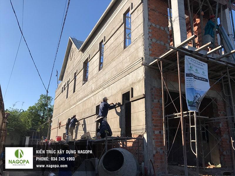 thi công tô trát tường ngoài nhà phố bình dương 05