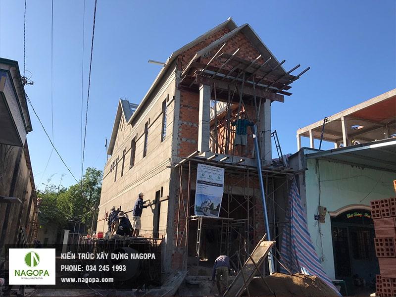 tiến độ thi công xây dựng phần thô nhà phố tại Thủ Dầu Một