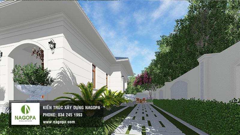 biệt thự nhà vườn 1 tầng mái thái 200m2 4