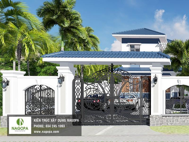 cổng nhà biệt thự vườn min