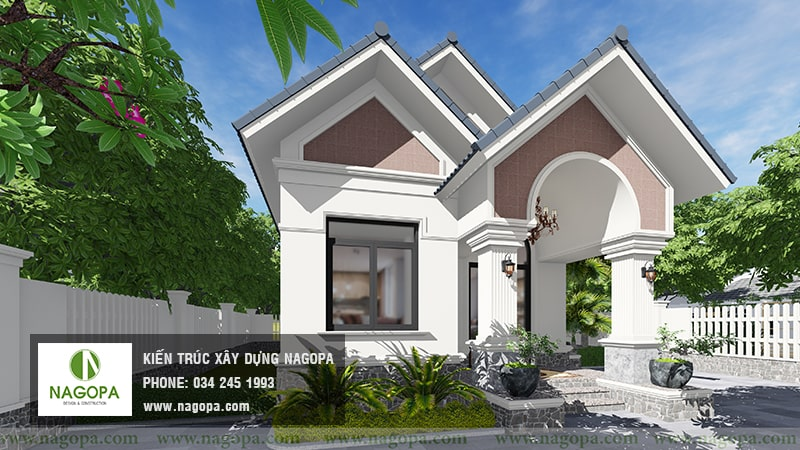 mẫu nhà biệt thự 1 tầng xây nhà cho bố mẹ 03