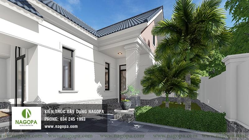 mẫu nhà biệt thự 1 tầng xây nhà cho bố mẹ 04