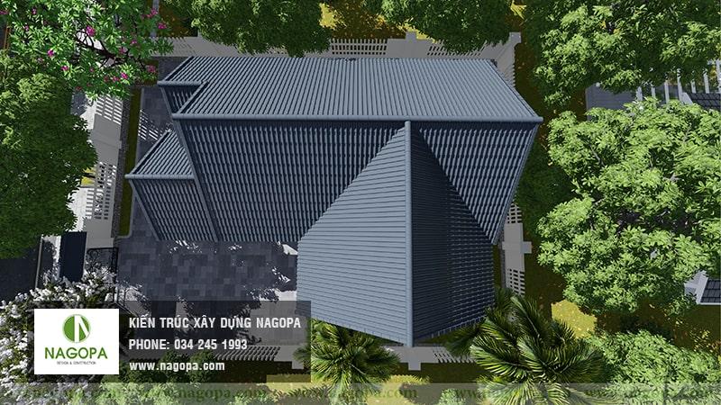 mẫu nhà biệt thự 1 tầng xây nhà cho bố mẹ 08