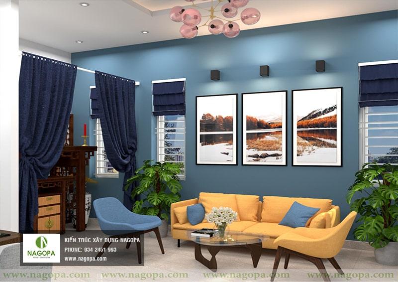 thiết kế nội thất nhà chị thư bến cát